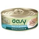 Oasy Wet Cat al Naturale Tonno con Gamberetti per gatti 70 gr - 2 lattine