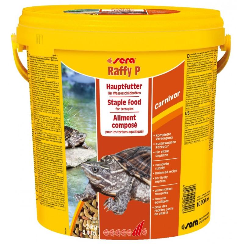 Sera raffy p 10 l for Pellet per tartarughe