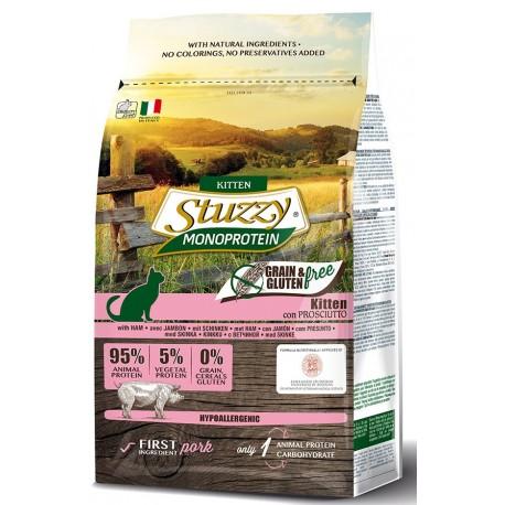 Stuzzy Cat Grain Free Monoprotein Kitten con Prosciutto 1,5 Kg