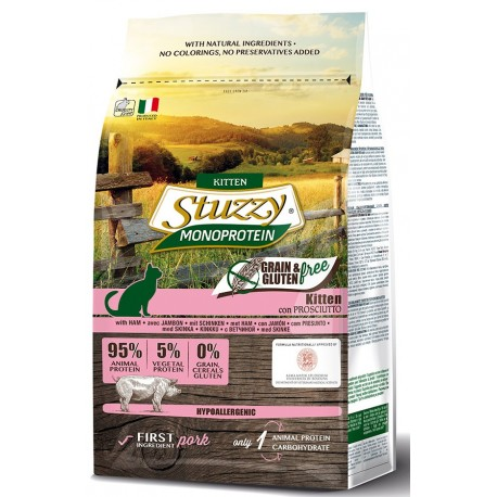 Stuzzy Cat Grain Free Monoprotein Kitten con Prosciutto 400 gr