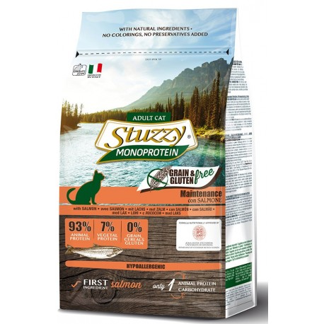 Stuzzy Cat Grain Free Monoprotein Adult con Salmone 1,5 Kg