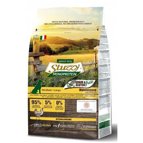 Stuzzy Dog Grain Free Monoprotein Adult Medio/Large con Pollo 3 Kg