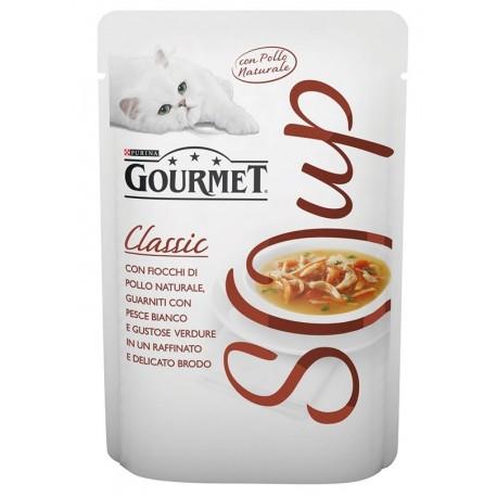 Gourmet Soup Pollo al Naturale con Pesce Bianco in Brodo 40gr