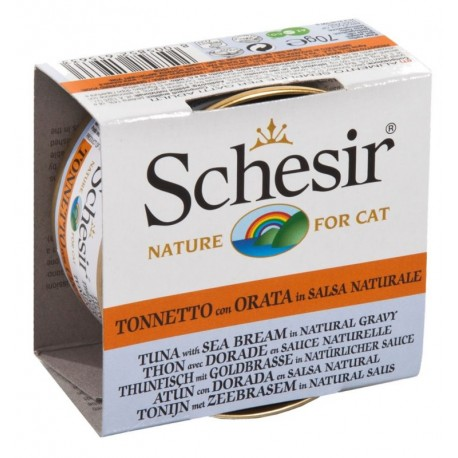 Schesir Cat 70 gr Tonnetto e Orata in salsa naturale
