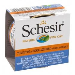 Schesir Cat 70 gr Tonnetto e Pesce Azzurro in salsa naturale