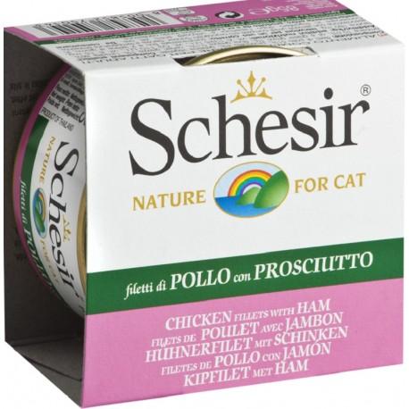 Schesir Cat 85 gr Filetti di Pollo con prosciutto in Jelly
