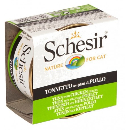 Schesir Cat 85 gr Tonnetto con Filetti di Pollo in Jelly