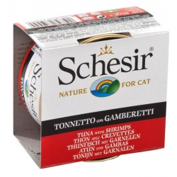 Schesir Cat 85 gr Tonnetto con Gamberetti in Jelly