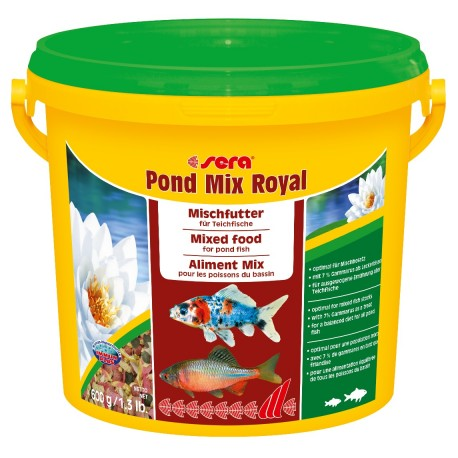Sera Pond Mix Royal 3800 ml 600g Mangime Misto per Pesci Laghetto
