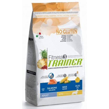 Trainer Fitness 3 Adult Mini No Gluten Salmone & mais 2 kg