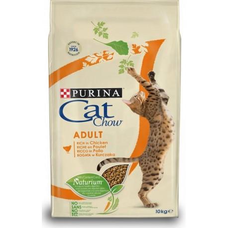 Purina Tonus Cat Chow Adult Ricco in Pollo 10 kg Croccantini per gatto