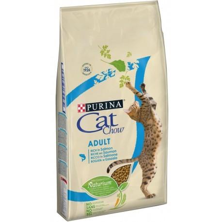 Purina Cat Chow Adult Ricco in Salmone 1,5 kg ex Tonus Croccantini per gatto