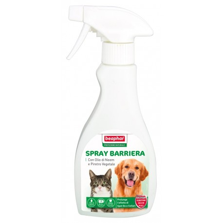 Beaphar lozione spray barriera antiparassitario naturale 250 ml per cane e gatto