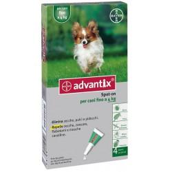 Advantix Bayer Spot On Antiparassitario per Cani Fino a 4 Kg