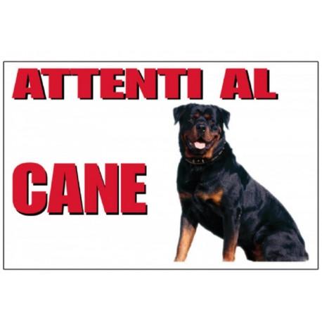 Trixie Cartello Attenti al Cane Rottweiler 25 x 15 cm