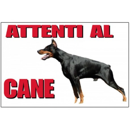Trixie Cartello Attenti al Cane Dobermann 25 x 15 cm