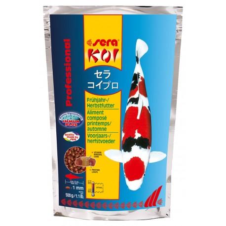 Sera Koi Professional Mangime per la Primavera e l'Autunno 500g per Pesci laghetto