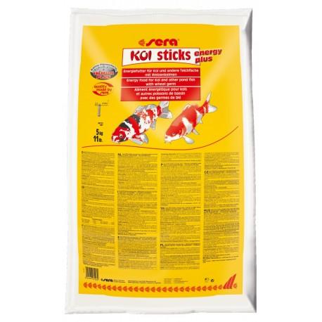 Sera Koi Sticks Energy Plus 5kg mangime con frumento per pesci carpe laghetto