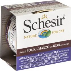 Schesir Cat 85 gr Filetti di Pollo e Manzo con Riso al Naturale