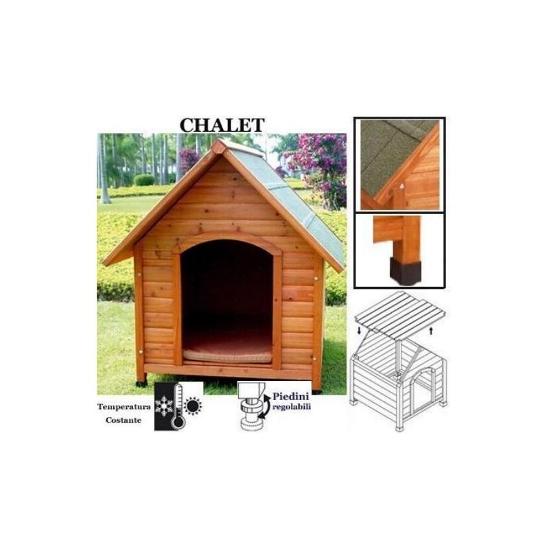 Cuccia chalet in legno per cane di taglia grande for Cuccia cane taglia grande