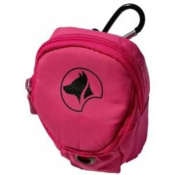 Hiking Smart Bag porta crocchette Rosa con portarotoli per cane