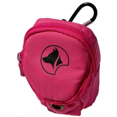 Hiking Smart Bag porta crocchette Rosa con portarotoli per cane