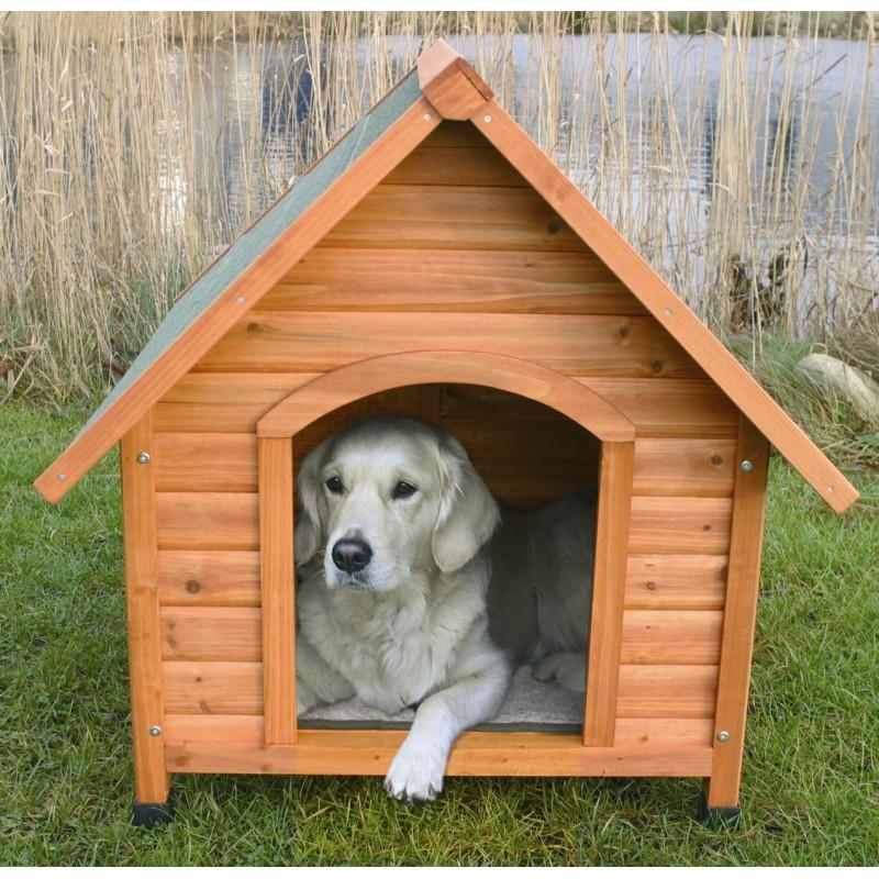 cuccia chalet in legno per cane di taglia grande