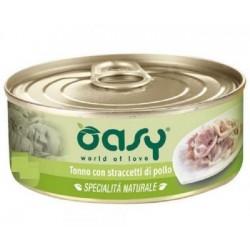 Oasy Wet Cat Specialità al Naturale Tonno con Straccetti di Pollo 150 gr