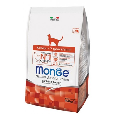 Monge Gatto Natural Superpremium Senior 400 gr
