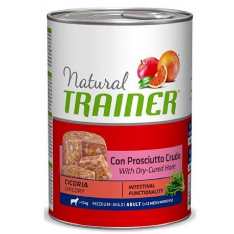 Trainer Natural Adult Umido Medium Maxi con Prosciutto Crudo 400 gr
