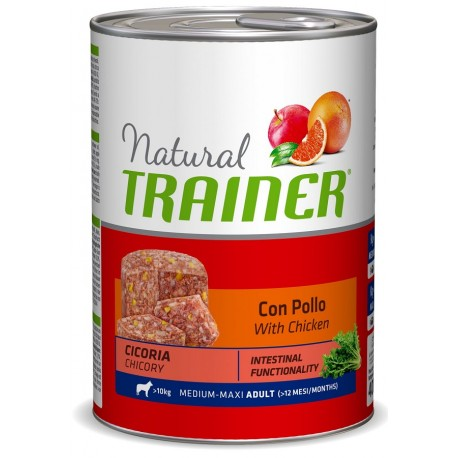 Trainer Natural Adult Umido Medium Maxi con Pollo 400 gr