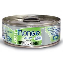 Monge Filetti di Tonno con Surimi in gelatina per gatto gr 80