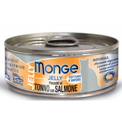 Monge Pezzetti di Tonno con Salmone in gelatina per gatto gr 80