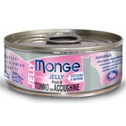 Monge Pezzi di Tonno con Acciughine in gelatina per gatto gr 80