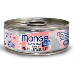 Monge Natural Tonno e Pollo con Gamberetti per gatto gr 80