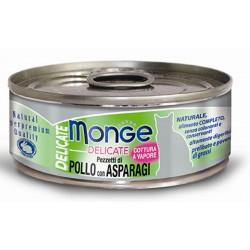 Monge Delicate Pezzetti di Pollo con Asparagi per gatto gr 80