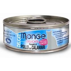 Monge Delicate Pezzetti di Pollo con Calamari per gatto gr 80