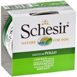Schesir Dog 150 gr Filetti di Pollo Umido per Cane