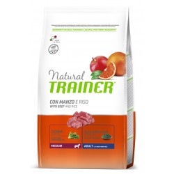 Trainer Natural Adult Medium Manzo e Riso 12 kg
