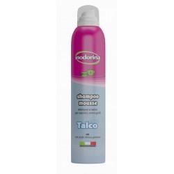 Inodorina shampoo mousse secco Talco 300 ml per Cane e Gatto