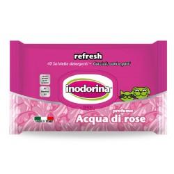 Inodorina Refresh Salviette Igieniche Acqua di Rose 40 pz
