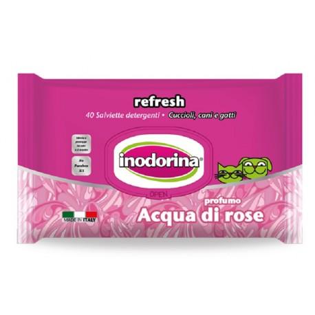 Inodorina Refresh Salviette Igieniche Acqua di Rose