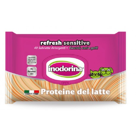 Inodorina Refresh Sensitive Salviette Igieniche con Proteine del Latte 40 pz
