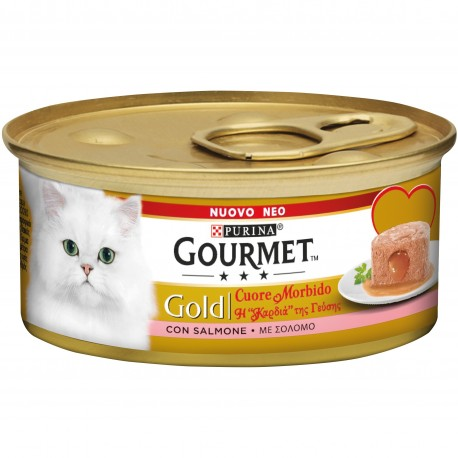 Gourmet Gold Cuore Morbido con Salmone 85 gr