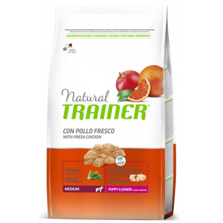 Trainer Natural Puppy & Junior Medium 12 Kg Crocchette per Cuccioli