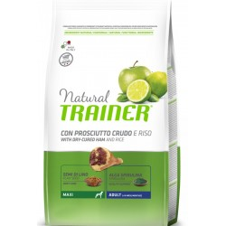 Trainer Natural Adult Maxi Prosciutto e Riso 12 Kg