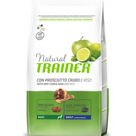 Trainer Natural Adult Maxi Prosciutto e Riso 12 Kg