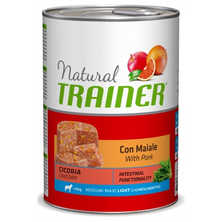 Trainer Natural Medium Maxi Light con Maiale 400 gr Alimento umido per Cane in Sovrappeso