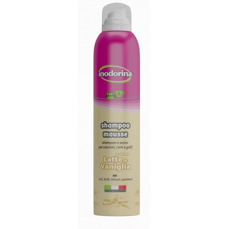Inodorina shampoo mousse secco Latte e Vaniglia 300 ml