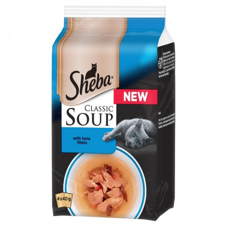 Sheba Soup con Filetti di Tonno 4 x 40 gr